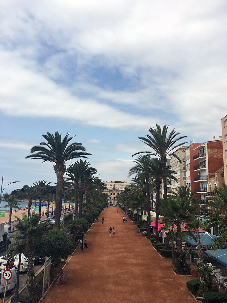 Lloret de Mar, Spain, view from the Museum balcony