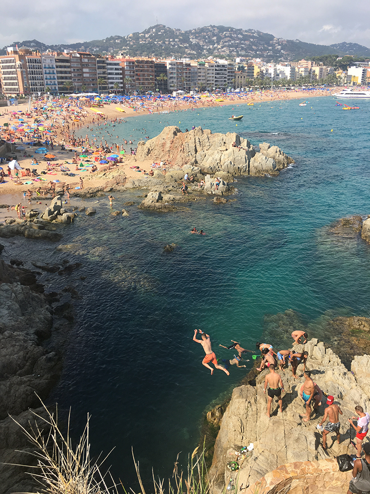 Lloret de Mar beach Spain
