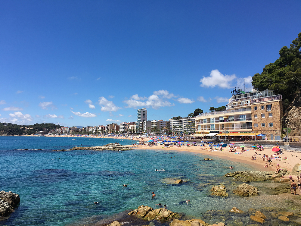 Lloret de Mar beach, Spain
