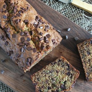 Dark Chocolate Chunk Banana Zucchini/Courgette Bread
