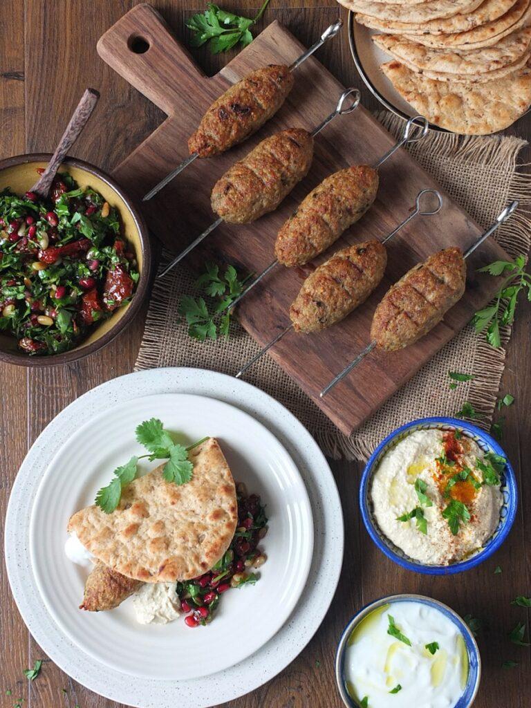 Grilled Lamb Kibbeh Kebabs