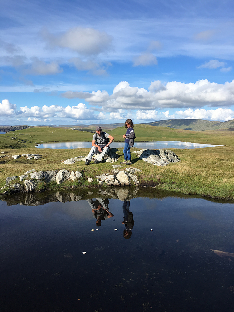 Hiking in Shetland with Kids