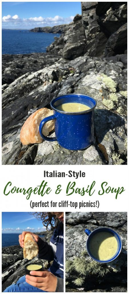 Italian Style Courgette and Basil Soup