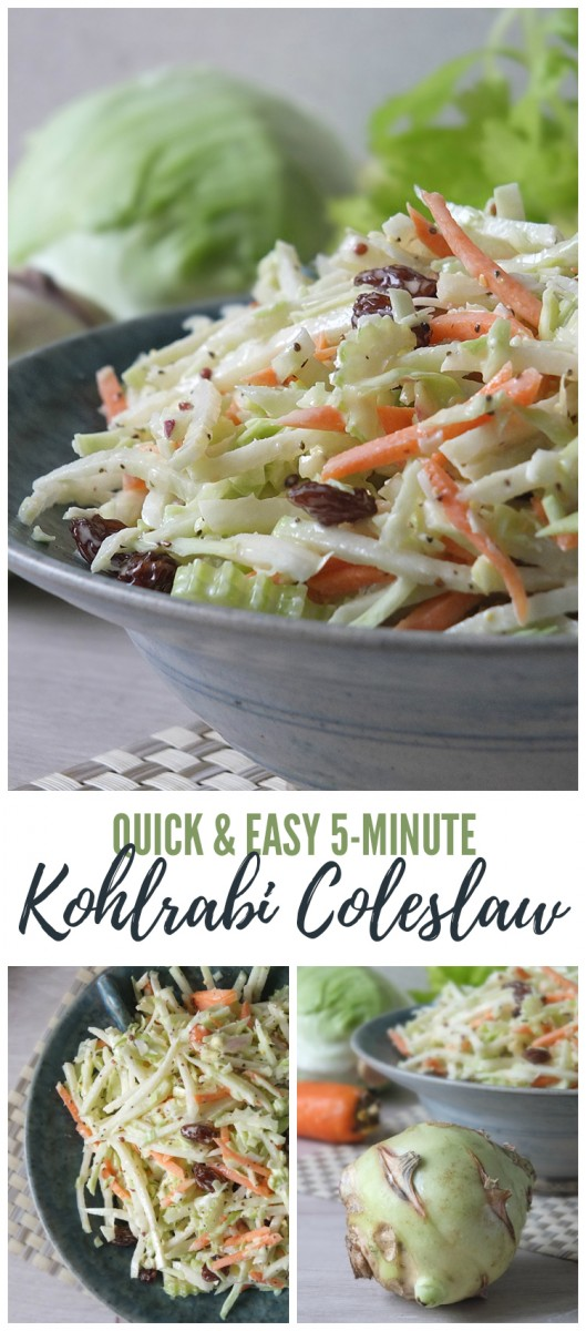 Quick & Easy 5-Minute Kohlrabi Coleslaw Recipe