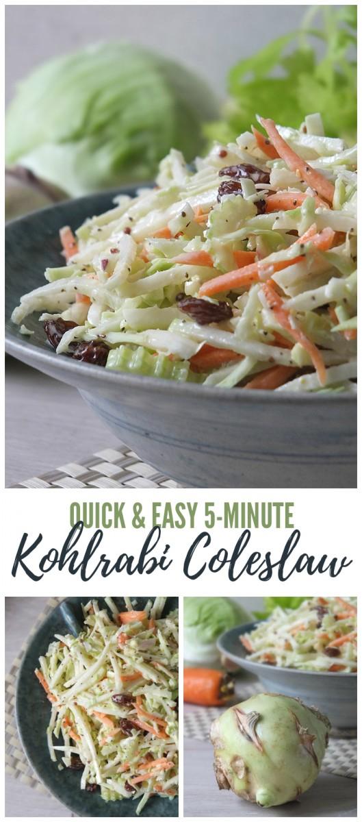 Quick & Easy 5-Minute Kohlrabi Coleslaw Recipe