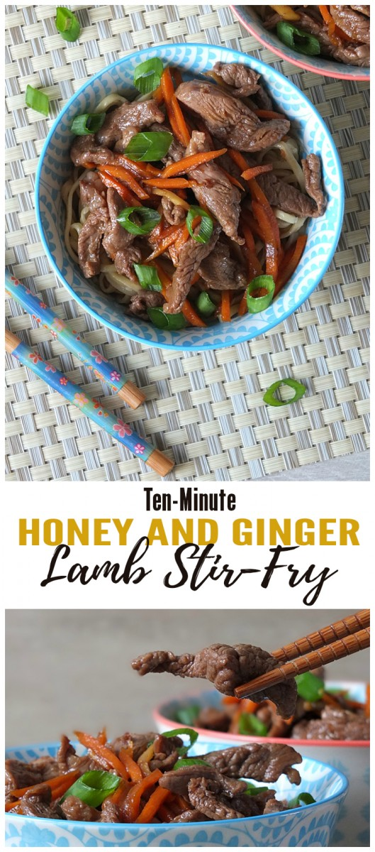 Ten Minute Ginger Honey Lamb Stir Fry