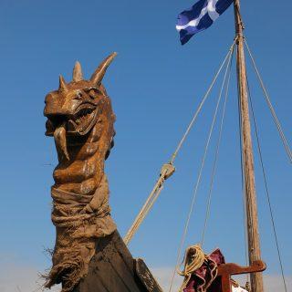 Ardglass Viking Longship Black Swallow