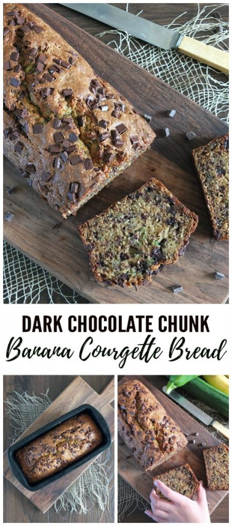 Dark Chocolate Courgette Zucchini Banana Bread Loaf