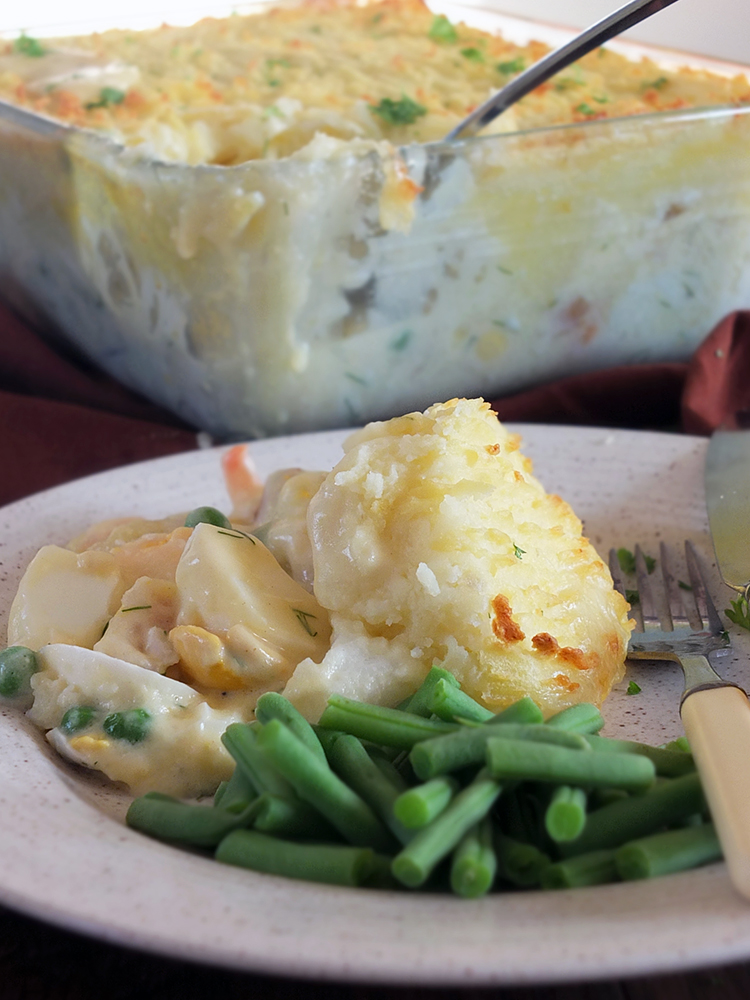 Family Meals: Creamy Fish Pie with Prawns and Dill