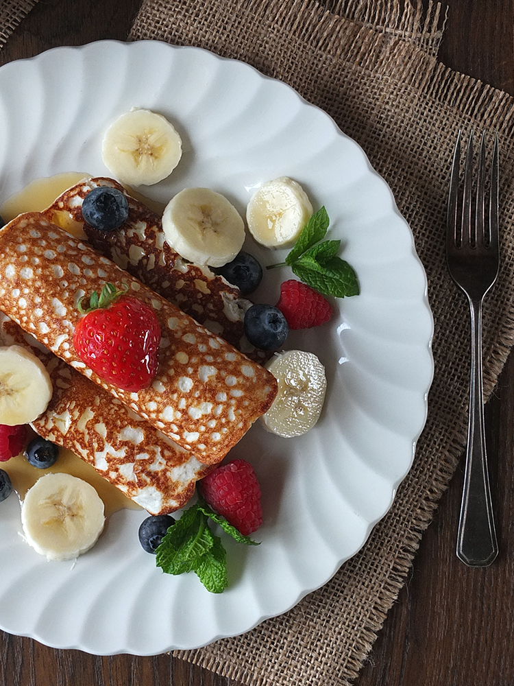 Three-Ingredient High-Protein Gluten-Free Crepes