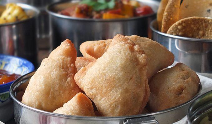 Indian Tapas: Lamb, Pea & Potato Mini Samosas