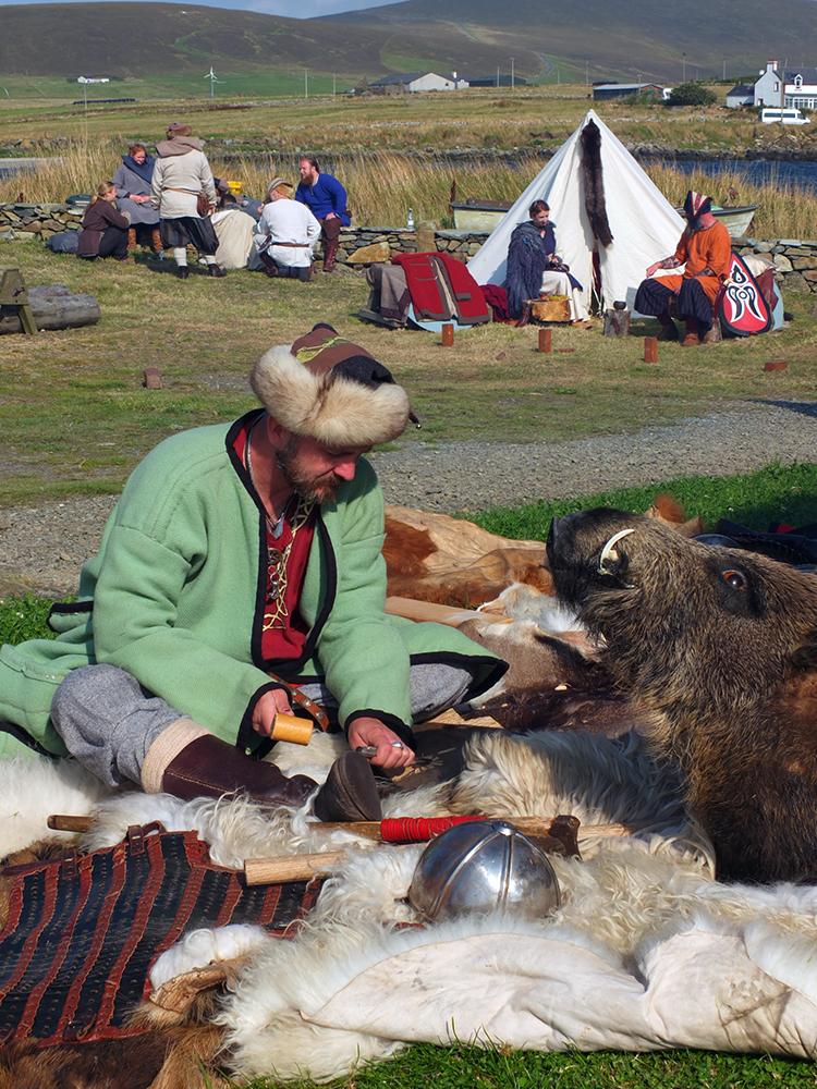 The Walhalla Vikings in Unst Shetland