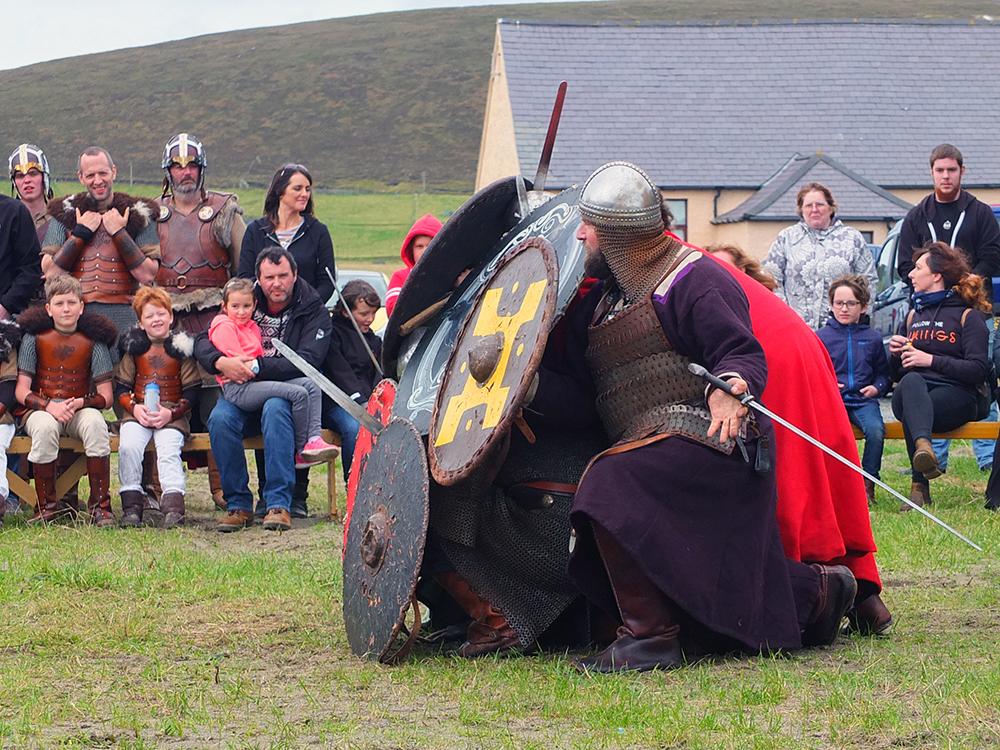 Unst Viking Festival Shield Wall Walhalla Vikings
