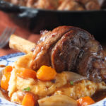 Easy slow cooked lamb shanks recipe #lamb #slowcooked #comfortfood #elizabethskitchendiary
