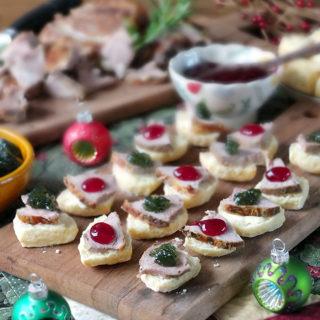 Roast Lamb & Mini Bannock Christmas Canapés