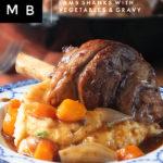 Slow Cooked Lamb Shanks #lamb #slowcooked #comfortfood #elizabethskitchendiary