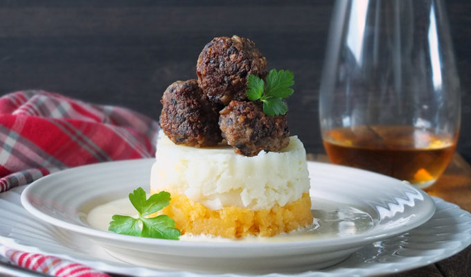 Lamb & Haggis Meatballs with a Whisky Cream Sauce