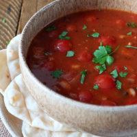 Tomato, Lentil & Bacon Soup