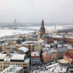 Old Riga, Latvia, from St. Peter's Church Spire