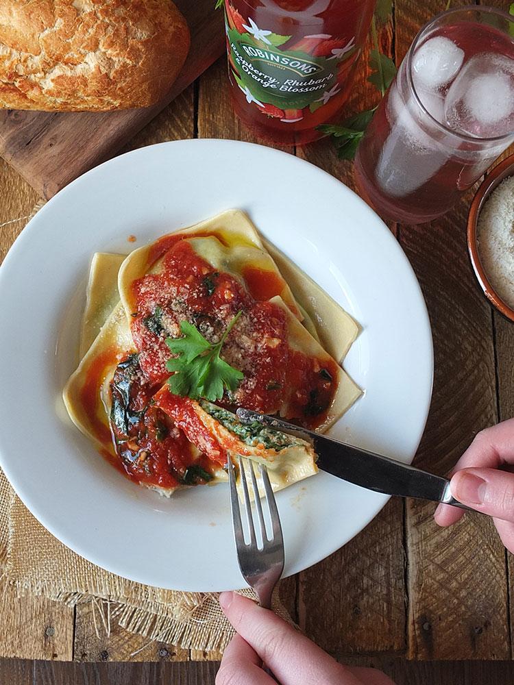 Homemade Spinach and Ricotta Ravioli Recipe   Elizabeth's Kitchen Diary