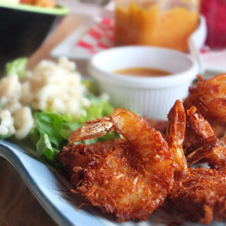 Coconut Shrimp at the West Deck Aruba Dining