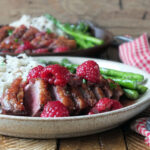 Pan-seared Duck Breast with Raspberry Port Sauce