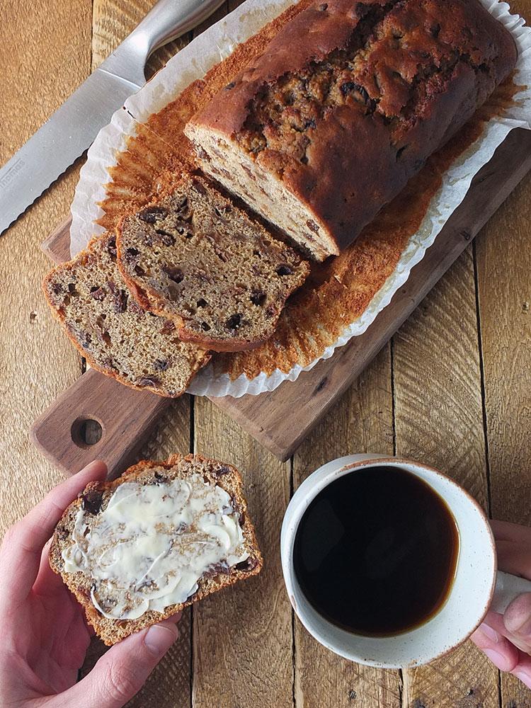 Bara Brith & coffee dessert