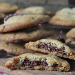 Chocolate Hazelnut Stuffed Chocolate Chip Cookies