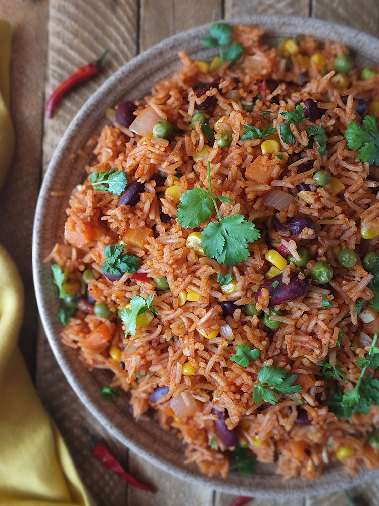 Spicy Mexican Rice And Beans Recipe Elizabeth S Kitchen Diary
