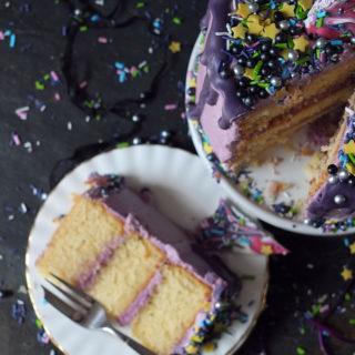 'Midnight Magic' 3-Layer Unicorn Candy Bark Birthday Cake