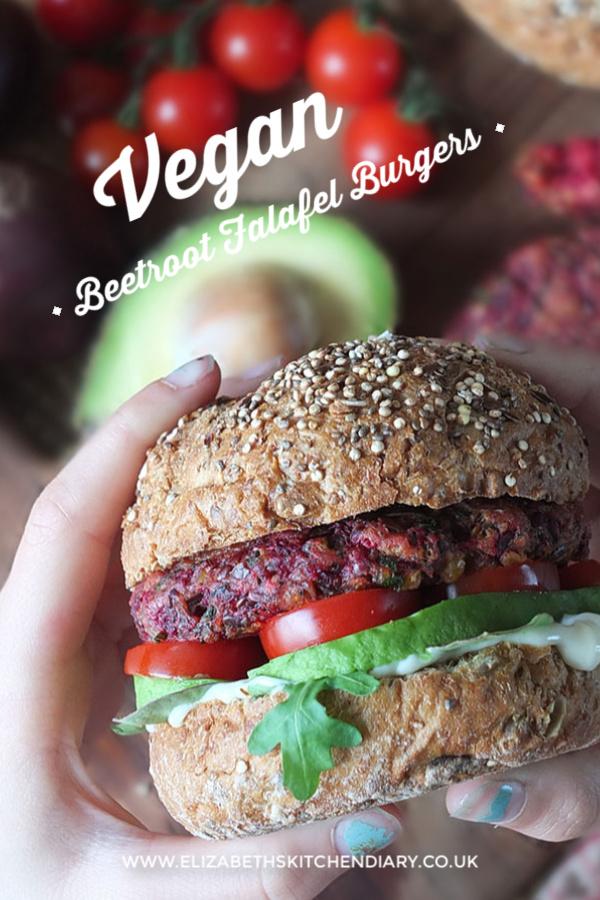 Vegan Beetroot Falafel Burgers #vegan #veganrecipe #veganuary