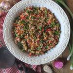 Vegan Summer Quinoa Salad Recipe with Lemon Vinaigrette