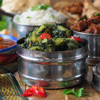 Saag Aloo - Indian Spinach and Potato Curry