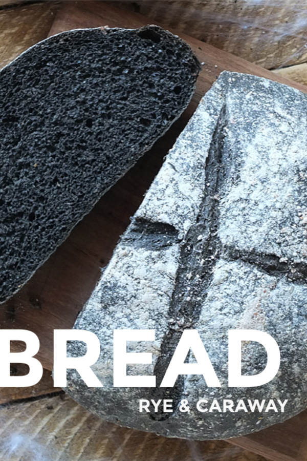 Rye & Caraway Black Bread Recipe - perfect for a Halloween or Harry Potter themed meal! #halloween #harrypotter #blackbread #breadmaking