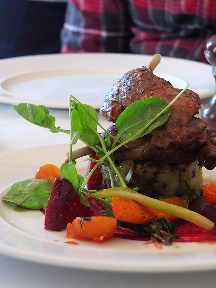 Eat on the Green Lunch with the Kilted Chef Main duck