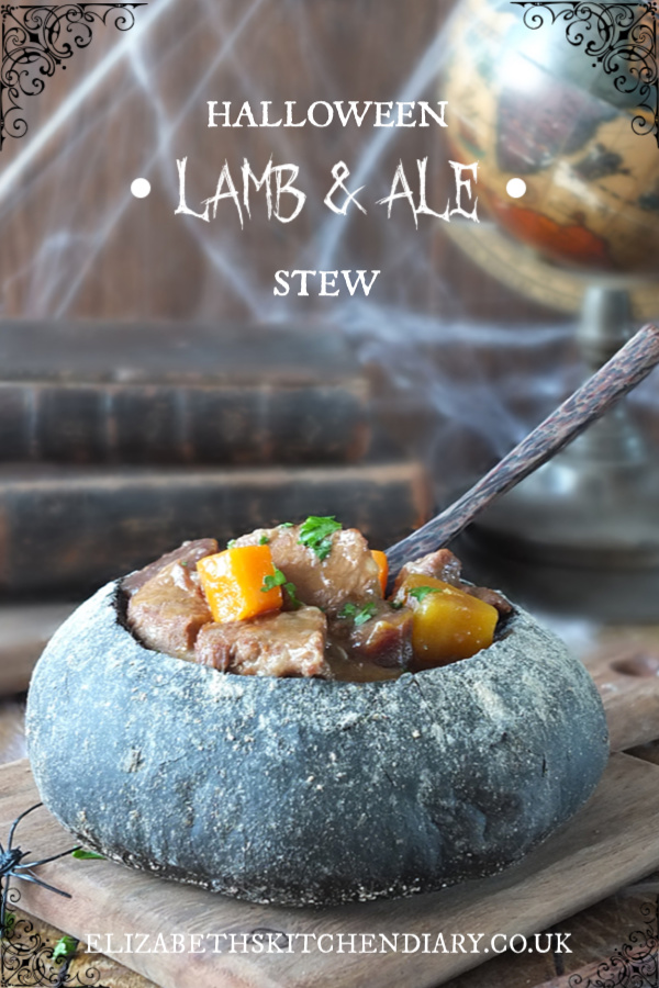 "Halloween Lamb & Ale Stew in a bread ""cauldron"" #halloween #harrypotter #cauldron #trylamb"