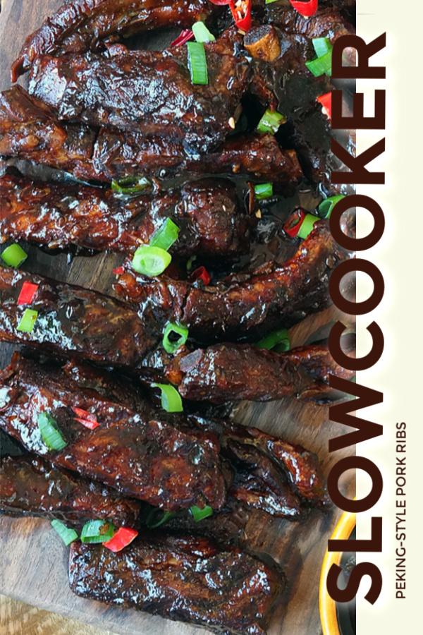 Crock-Pot® Slow Cooker Peking-Style Pork Ribs #slowcooker #crockpot #porkribs #ribs