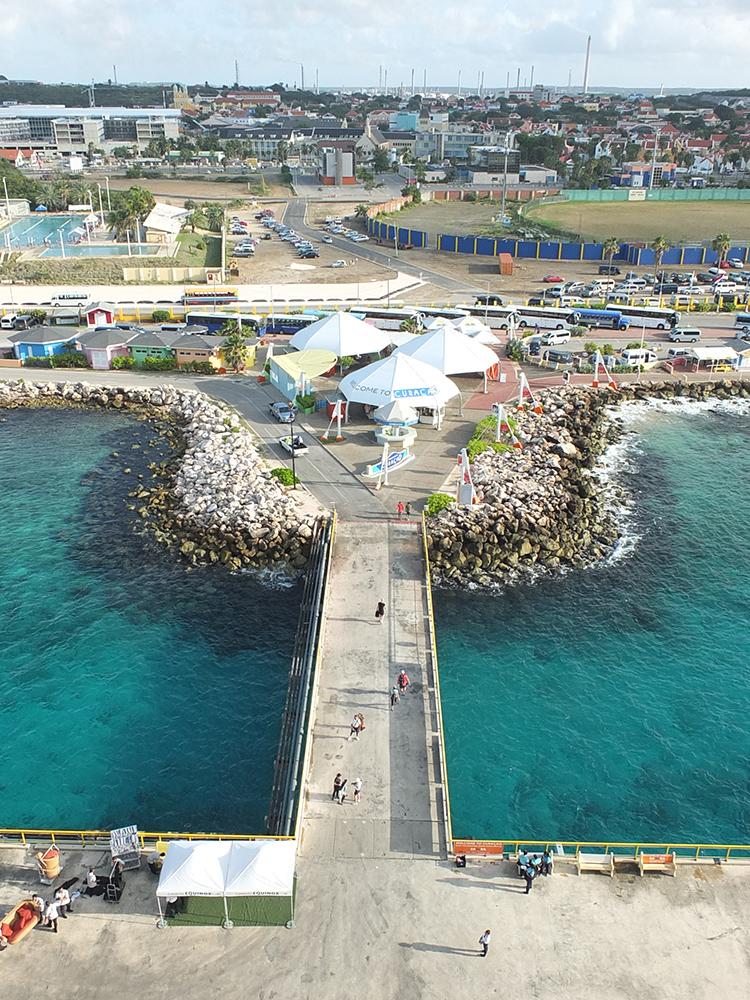 Cruise ship port in Curacao