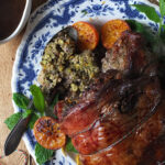 Rolled Lamb Shoulder with Pistachio & Orange Stuffing