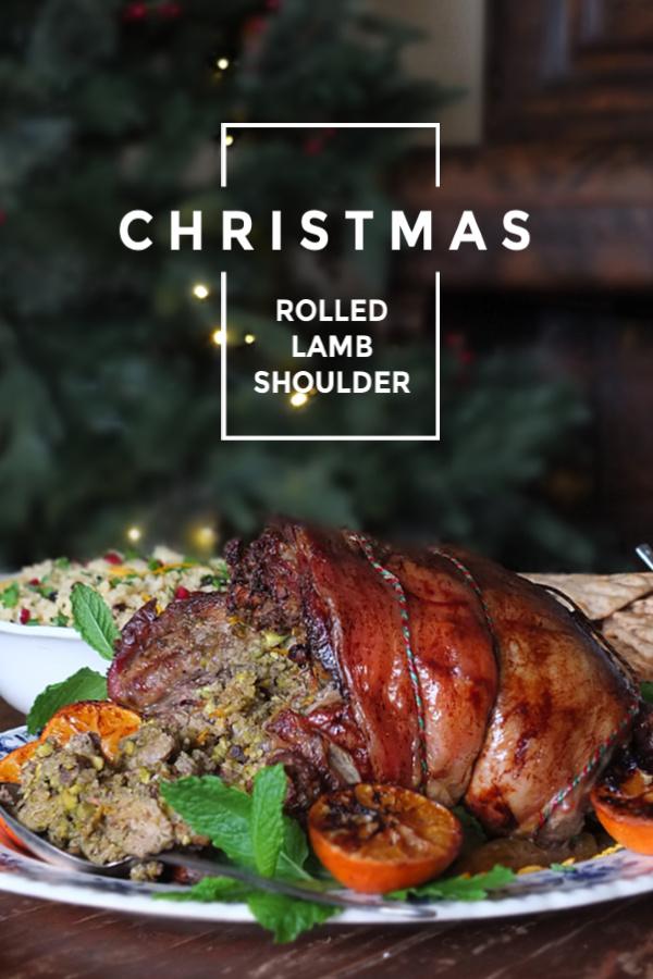 Roast Boneless Shoulder of Lamb with Pistachio & Orange Stuffing #lamb #roast #stuffing