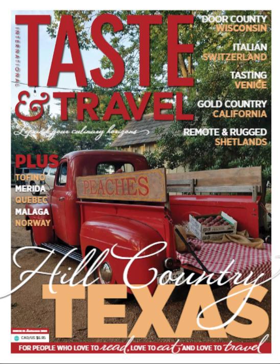 Taste and Travel magazine Canada