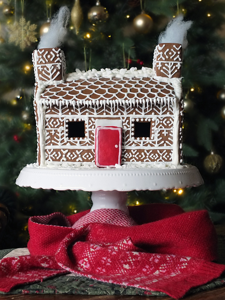 photograph regarding Gingerbread House Printable named Shetland Croft Gingerbread Area with Realistic Isle Behavior Decoration