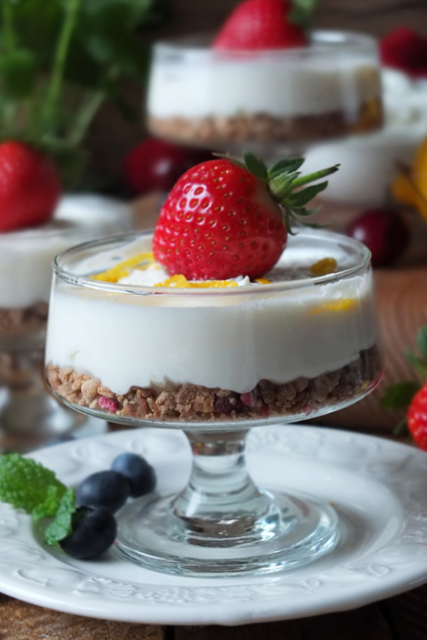 Low Calorie No Bake Lemon Quark Cheesecake Recipe #quark #lowcalorie #cheesecake #dessert