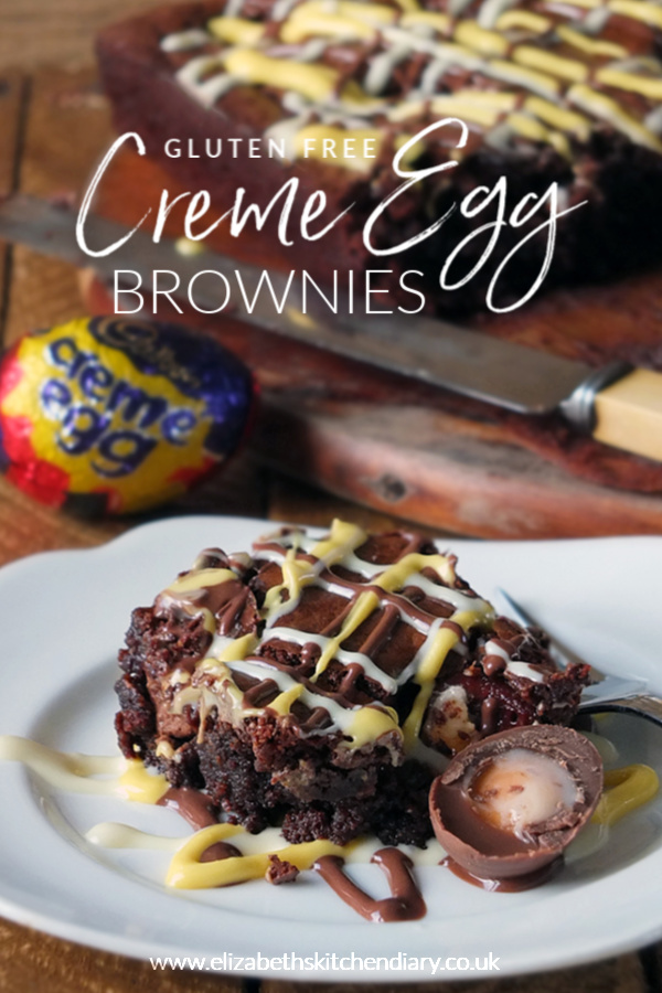 Gluten-free Creme Egg Easter Brownies #cremeegg #brownie #glutenfree #easter #chocolate