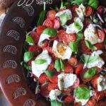 Tomato and Mozzarella Salad #vegetarian #himalayansalt #himalayanpinksalt #salad