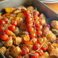 cajun chicken & vegetables
