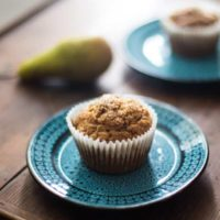Pear and Pistachio Muffins