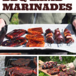 Three super easy Asian-inspired BBQ lamb marinades for lamb steaks, lamb chops and cubed lamb shoulder kebabs. #bbq #barbecuemarinade #marinade #lamb #bbqrecipe #barbecuerecipe
