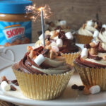 In this American-style cupcake recipe, created to celebrate the 4th of July, Skippy® Peanut Butter is paired with chocolate to create a delicious, indulgent treat that the kids will love. This recipe has been made in collaboration with Skippy®Peanut Butter. #Skippy4July #peanutbutter #chocolate #cupcake #baking