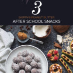These No-Bake SKIPPY® Peanut Butter & Chocolate Energy Bites take only 10 minutes to make, and they make for a perfect After School Snack. #peanutbutter #SKIPPY #afterschoolsnack